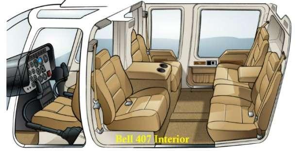 Bell 407 Interior Configuration
