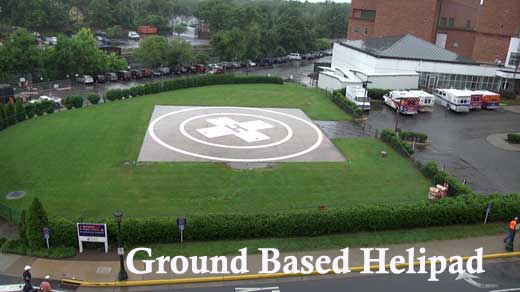 helipad on ground