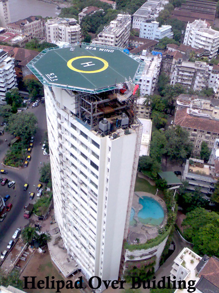 helipad over building